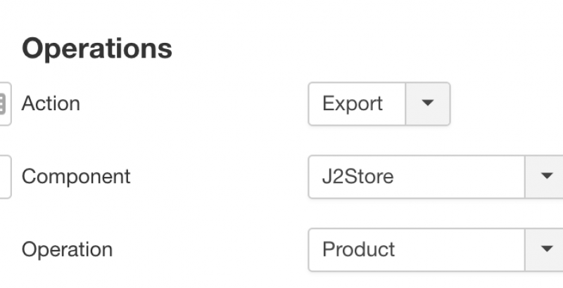 RO CSVI J2Store Product Export Template