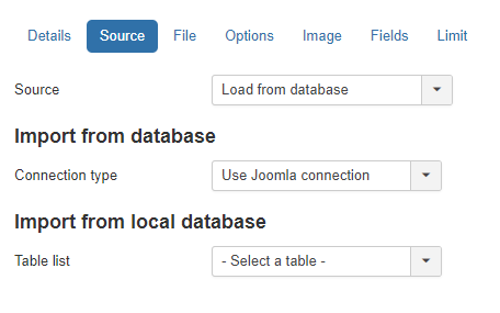 Local database source
