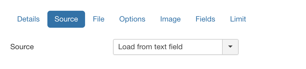 Load from textfield