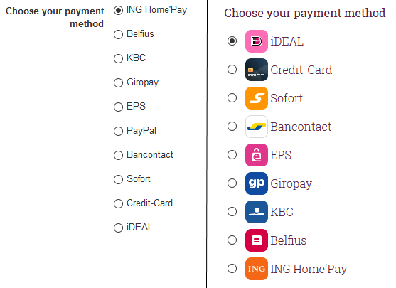 RO Payments RSForm!Pro Payment Options