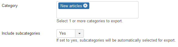 Joomla! Content subcategory support
